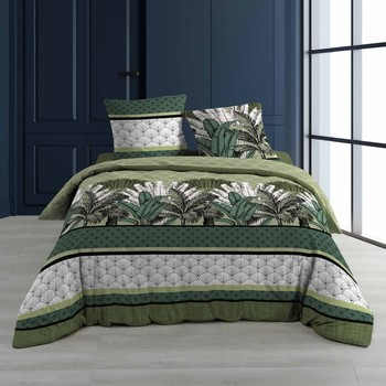 Casa Conjunto de roupa de cama Douceur d intérieur PAPOUASIE Verde