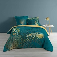 Casa Conjunto de roupa de cama Douceur d intérieur STRASSY Azul