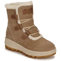 Sapatos Mulher Botas de neve Casual Attitude NAREIGNE Bege