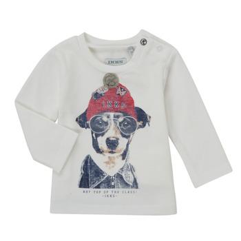 Textil Rapaz T-shirt mangas compridas Ikks AUBERGINE Branco