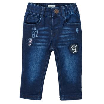 Textil Rapaz Calças Jeans Ikks ACIER Azul / Escuro