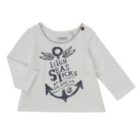 Textil Rapariga T-shirt mangas compridas Ikks CHOCOLAT Branco