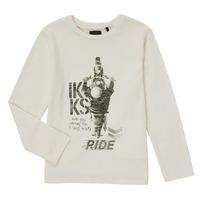 Textil Rapaz T-shirt mangas compridas Ikks CERISE Branco