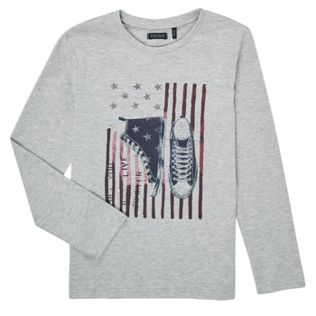 Textil Rapaz T-shirt mangas compridas Ikks SAPHIR Cinza