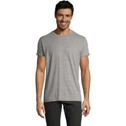 Textil Homem T-Shirt mangas curtas Sols Camiseta IMPERIAL FIT color Gris mezcla Gris