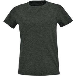 Textil Mulher T-Shirt mangas curtas Sols Camiseta IMPERIAL FIT color Antracita Gris