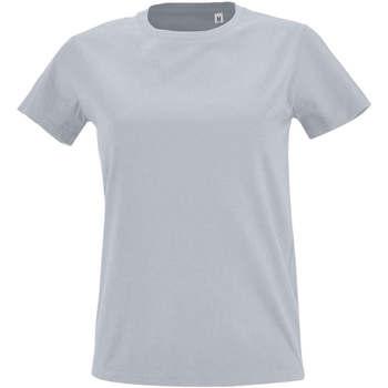 Textil Mulher T-Shirt mangas curtas Sols Camiseta IMPERIAL FIT color Gris  puro Gris