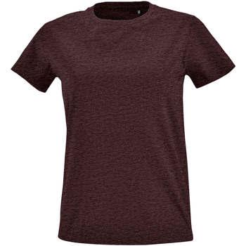 Textil Mulher T-Shirt mangas curtas Sols Camiseta IMPERIAL FIT color Oxblood Otros