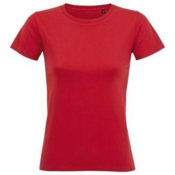 Textil Mulher T-Shirt mangas curtas Sols Camiseta IMPERIAL FIT color Rojo Rojo