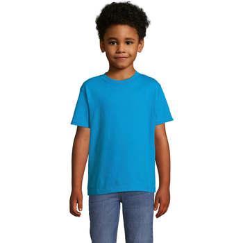 Textil Criança T-Shirt mangas curtas Sols Camista infantil color Aqua Azul