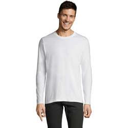 Textil Homem T-shirt mangas compridas Sols Camiseta manga larga Blanco