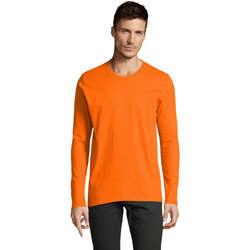 Textil Homem T-shirt mangas compridas Sols Camiseta manga larga Naranja
