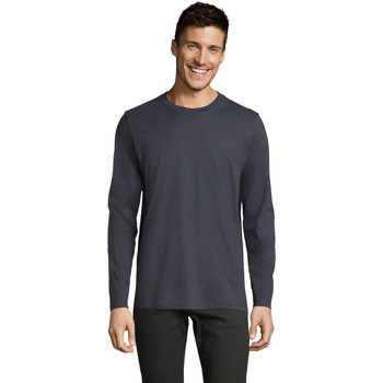 Textil Homem T-shirt mangas compridas Sols Camiseta manga larga Gris