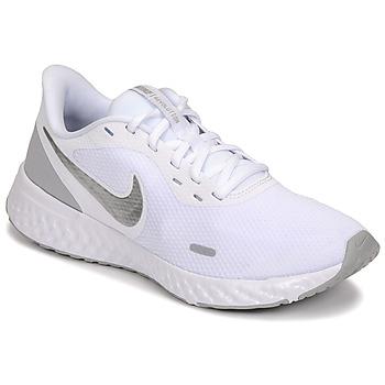 Sapatos Mulher Multi-desportos Nike WMNS NIKE REVOLUTION 5 Branco / Prateado