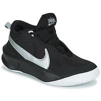 Sapatos Criança Sapatilhas de cano-alto Nike TEAM HUSTLE D 10 (GS) Preto / Prateado