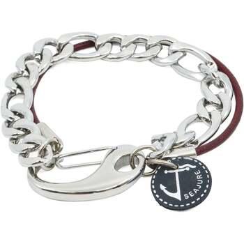 Relógios & jóias Homem Pulseiras Seajure Vanuatu Bracelet Bordeaux e Prateado
