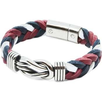 Relógios & jóias Homem Pulseiras Seajure Milos Bracelet Azul Marinho, Branco e Vermelho