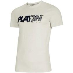 Textil Homem T-Shirt mangas curtas 4F TSM013 Branco