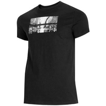 Textil Homem T-Shirt mangas curtas 4F TSM025 Preto