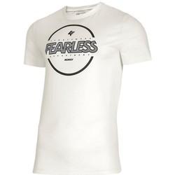 Textil Homem T-Shirt mangas curtas 4F TSM015 Branco