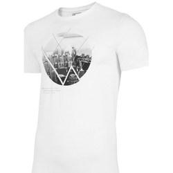 Textil Homem T-Shirt mangas curtas 4F TSM023 Branco