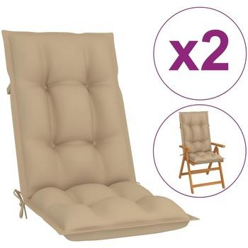 Casa Almofada de cadeira VidaXL Almofadão para cadeira de jardim 120 x 50 x 7 cm Bege