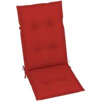 Casa Almofada de cadeira VidaXL Almofadão para cadeira de jardim 120 x 50 x 7 cm Vermelho