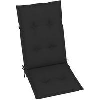 Casa Almofada de cadeira VidaXL Almofadão para cadeira de jardim 120 x 50 x 7 cm Preto