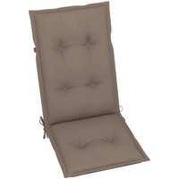 Casa Almofada de cadeira VidaXL Almofadão para cadeira de jardim 120 x 50 x 7 cm Cinzento-acastanhado