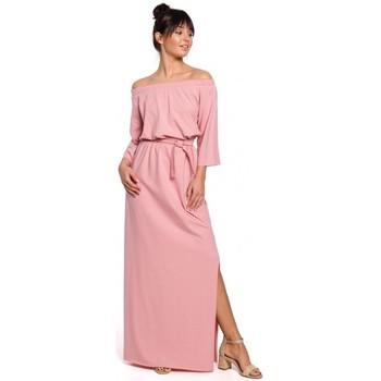 Textil Mulher Vestidos compridos Be B146 Vestido fora do ombro maxi - rosa
