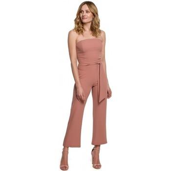 Textil Mulher Macacões/ Jardineiras Makover K045 Fato-macaco de bandeau - rosa