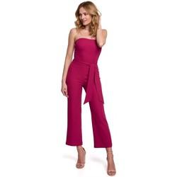 Textil Mulher Macacões/ Jardineiras Makover K045 Fato de salto de bandeau - ameixa