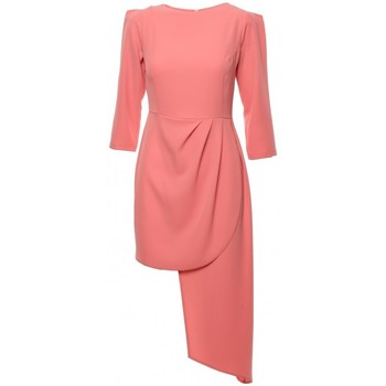 Textil Mulher Vestidos curtos Makover K047 Vestido de bainha assimétrica - laranja