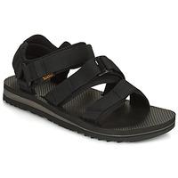 Sapatos Homem Sandálias Teva M Cross Strap Trail BLACK Preto