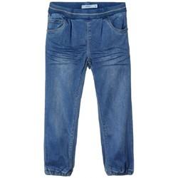 Textil Criança Calças Jeans Name it PANTALÓN VAQUERO NIÑA  13181482 Azul