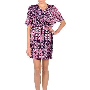 Textil Mulher Vestidos curtos Stella Forest YRO059 Marinho / Rosa