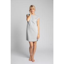 Textil Mulher Vestidos curtos Lalupa LA033 Vestido de Algodão com Costura - cinzento claro