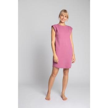 Textil Mulher Vestidos curtos Lalupa LA033 Vestido de Algodão com Costura - urze