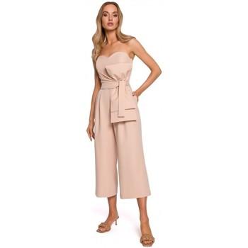 Textil Mulher Macacões/ Jardineiras Moe M571 Fato de salto sem alças - bege