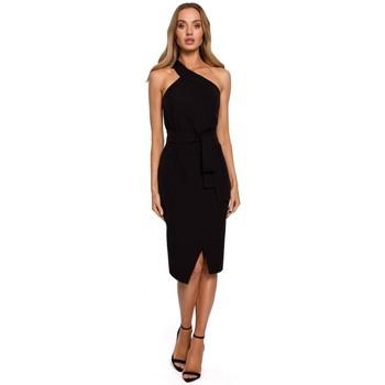 Textil Mulher Vestidos compridos Moe M572 Single Strap Dress - preto