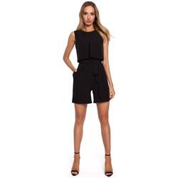Textil Mulher Macacões/ Jardineiras Moe M574 Romper sem mangas de camada dupla - preto
