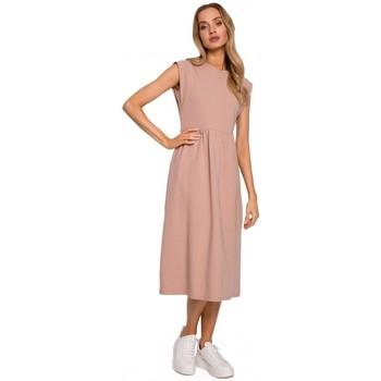 Textil Mulher Vestidos compridos Moe M581 Vestido sem mangas de cintura alta - mocca