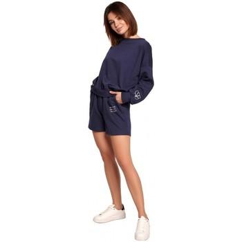 Textil Mulher Shorts / Bermudas Be B186 Calções com bordado - azul