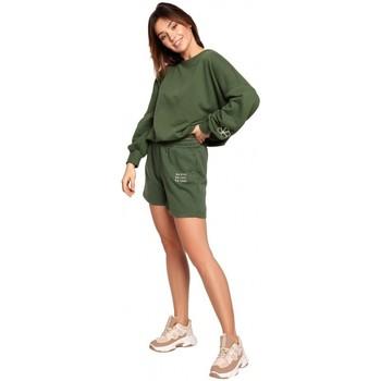 Textil Mulher Shorts / Bermudas Be B186 Calções com bordado - verde relva