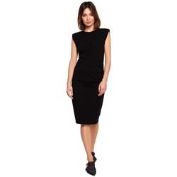 Textil Mulher Vestidos curtos Be B193 Vestido com Lados Esbugalhados - preto