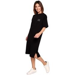 Textil Mulher Vestidos curtos Be B194 Vestido de T-shirt Relaxed Fit - preto
