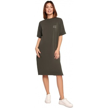 Textil Mulher Vestidos curtos Be B194 Vestido de T-shirt Relaxed Fit - verde militar