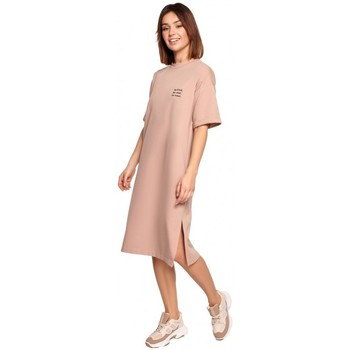 Textil Mulher Vestidos curtos Be B194 Vestido de T-shirt Relaxed Fit - mocca