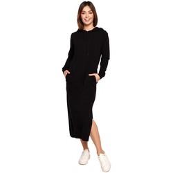 Textil Mulher Vestidos compridos Be B197 Vestido Midi com capuz - creme