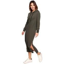Textil Mulher Vestidos compridos Be B197 Vestido Midi Com Capuz - mocca